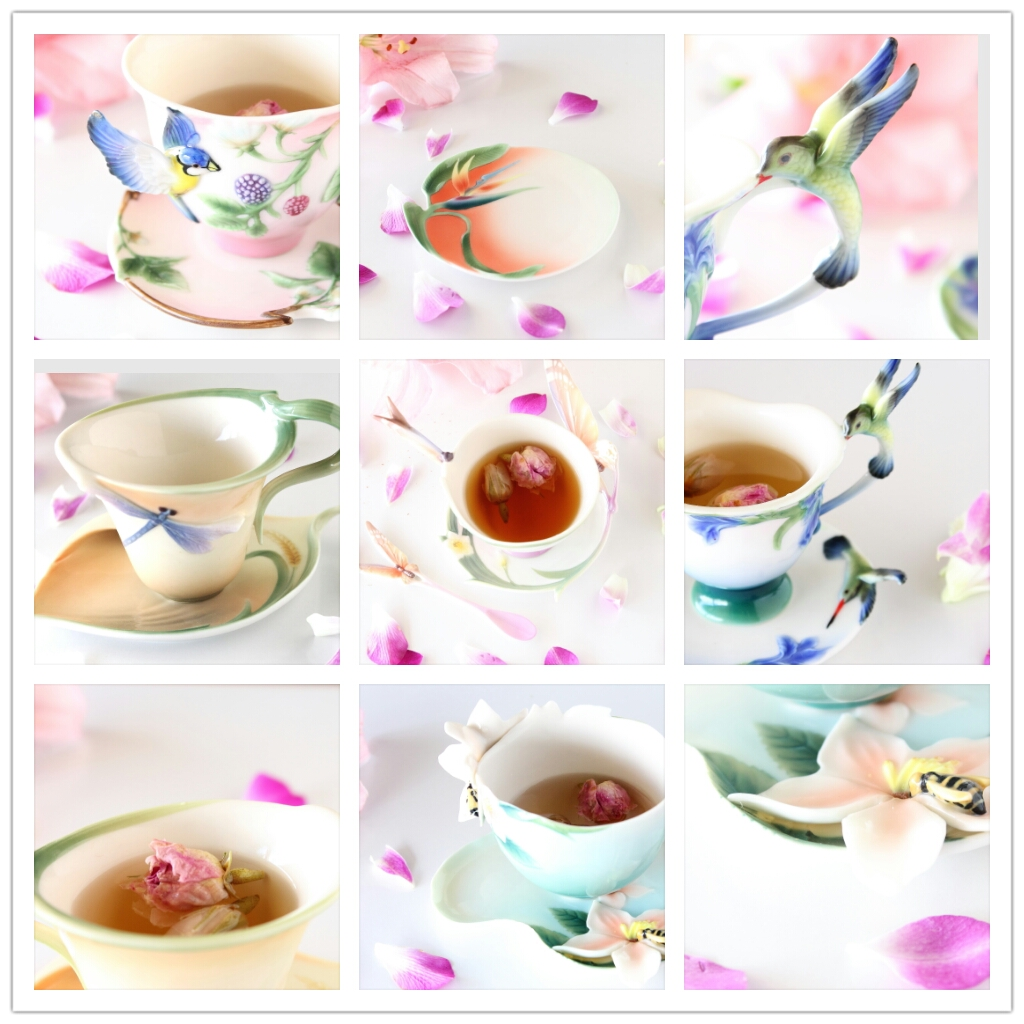 PhotoGrid Rose tea